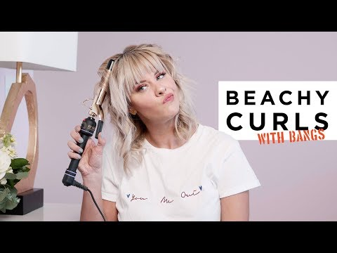 How to Achieve Beachy Curls with Bangs