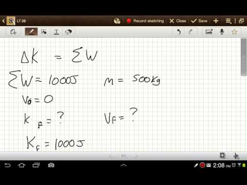Physics Work Problems - How to Calculate Work and the Change in Kinetic Energy