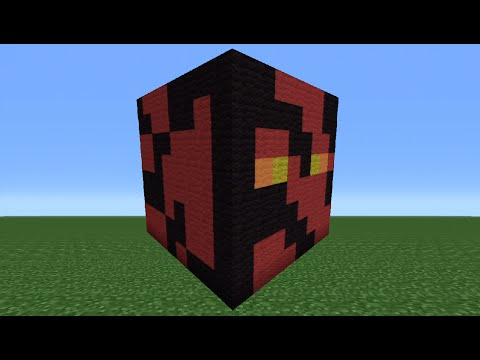 Minecraft Tutorial: How To Make A Magma Cube Statue