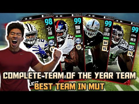 COMPLETE TEAM OF THE YEAR TEAM! ZEKE, OBJ, COLLINS! MADDEN 17 ULTIMATE TEAM