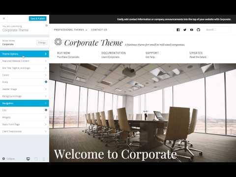 Corporate WordPress Theme: Setting Navigation Menus (Step 3)