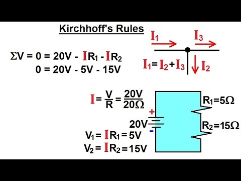 Physics - E&M: Ch 41.3 Ohm's Law & Resistor Circuit Understood(20 of 42) What are Kirchhoff's Rules?
