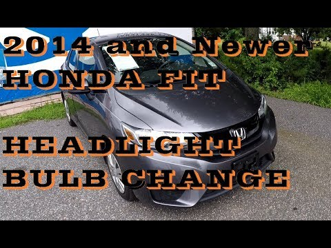 How to replace change Headlight bulb in Honda Fit 2014 and up