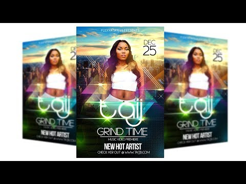 How to make flyers on Adobe PSD Photoshop Tutorials CC Party Event Club Graphic Design Vol 2