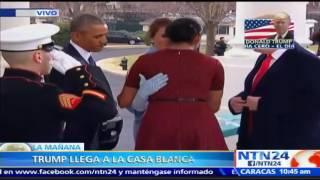 Trump llega a la Casa Blanca y se reúne con Obama antes de la transmisión de mando