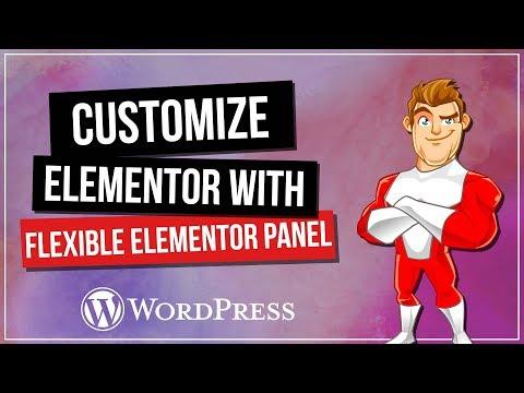 Flexibile ELEMENTOR Panel - Customise Your Interface!