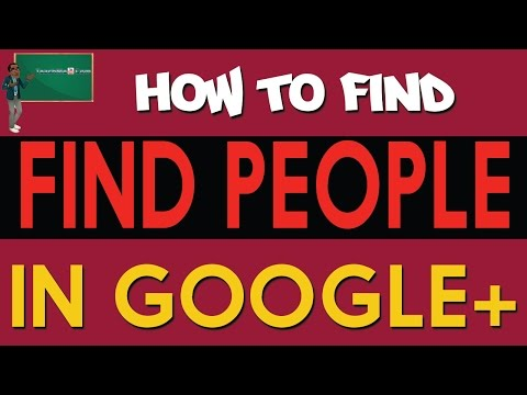 How to Find People on Google Plus