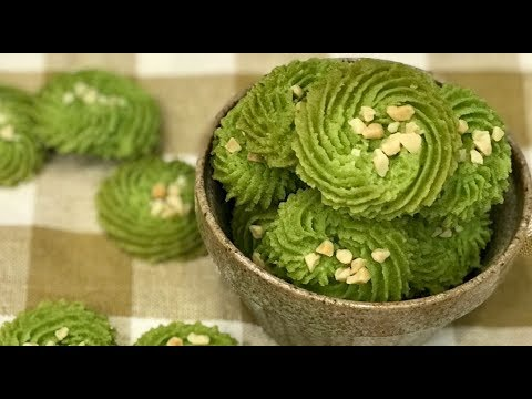 绿茶杏仁饼干 Green Tea Almond Biscuits