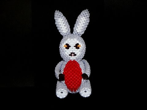 3D origami Easter Bunny tutorial part2
