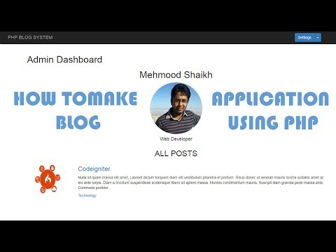 How to make  PHP BLOG Application-Introduction Part-1
