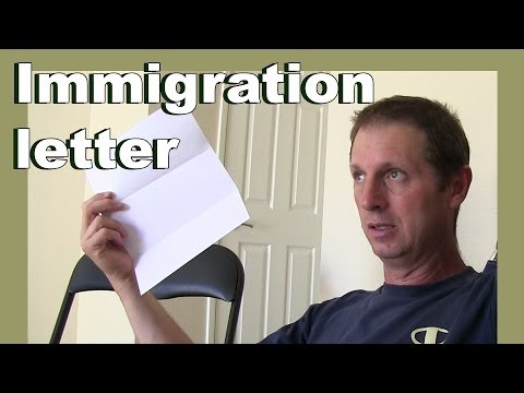 A letter from US Immigration - Return to the USA - LylesBrother