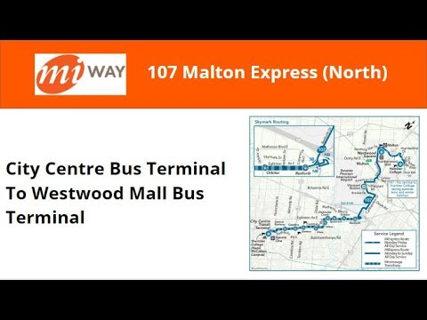 MiWay 2014 New Flyer XD40 #1401 On 107 Malton Express (North) (C.C.B.T To Westwood Mall)