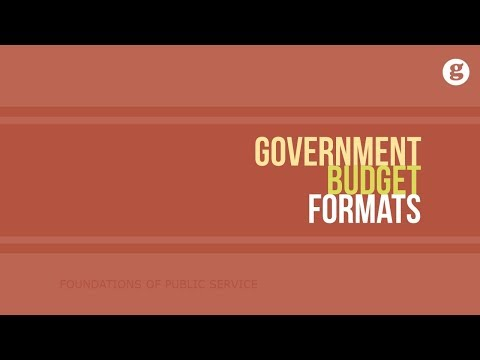 Government Budget Formats