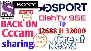 Dd Free Dish | Nss6 Ses8 95E | Thriller Active| Sony Espn Dsports