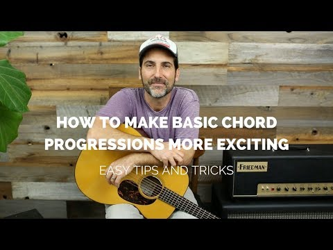 EASY - How To Spice Up Basic chord Progressions - Guitar Lesson
