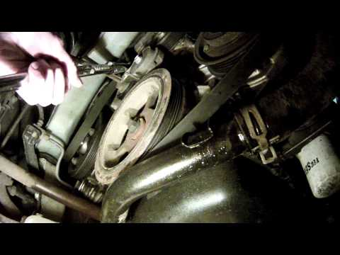 How to remove a serpetine belt on a Dodge Caravan