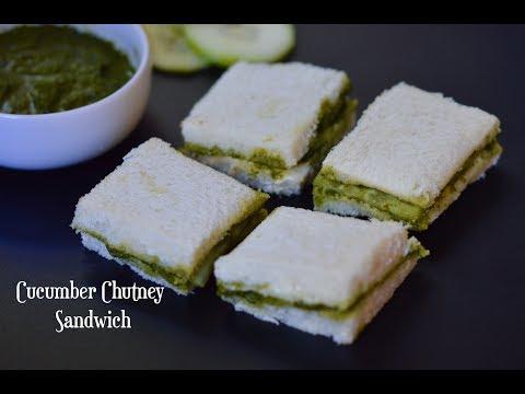 Cucumber Chutney Sandwich|Chutney Sandwich|Lunch box recipes for kids|Tea Time Sandwich