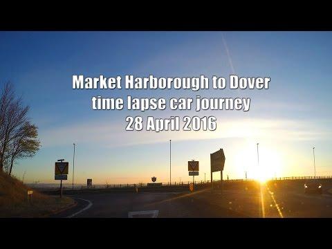 gopro time lapse car journey Market Harborough England - Beziers France 1 Dover ferry 28 April 2016