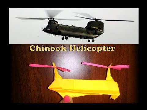 How to make a Paper Model of Chinook Helicoptor Very Easy
