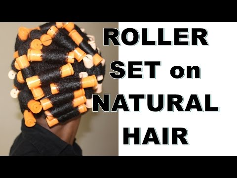 Roller Set on Natural Hair with Jane Carter Wrap and Roll