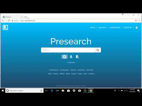 How To Set Presearch As Your Default Address Bar Search Engine (Earn Crypto While Your Search)