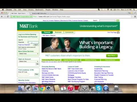 M&T Bank Online Banking Login Instructions