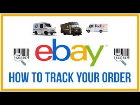 How to track your order on ebay.