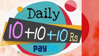 Daily 10rs Free Paytm Cash - New App Loot Offer !!