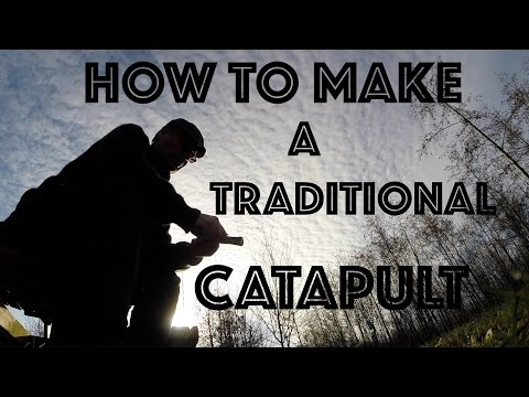 Slingshot. How to make Traditional Catapult Slingshot. Coffee Break Catapult Slingshot