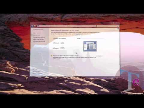 Change default font size   Windows 7