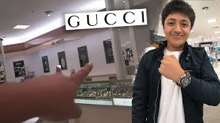 BUYING $1000 GUCCI WATCH AT AGE 15!! (no clickbait)
