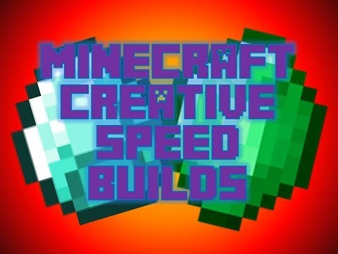 MINECRAFT CREATIVE SPEED BUILDS EP.1:  LETS GO!
