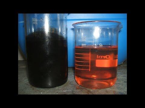 Dark diesel processing, thermal filtration (black diesel fuel bleaching) 3