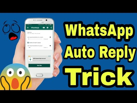 Whatsapp Auto Reply Trick | Send message without open whatsapp | Amazing whatsapp trick 2017