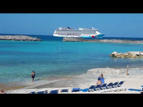 Heading Back to Norwegian Breakaway after a Wonderful Day at Great Stirrup Cay, Bahamas