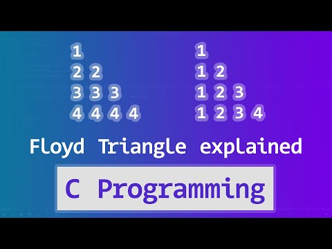 C Pattern Printing Programs | Right Angle Floyd's Triangle Pattern with Explanation | English