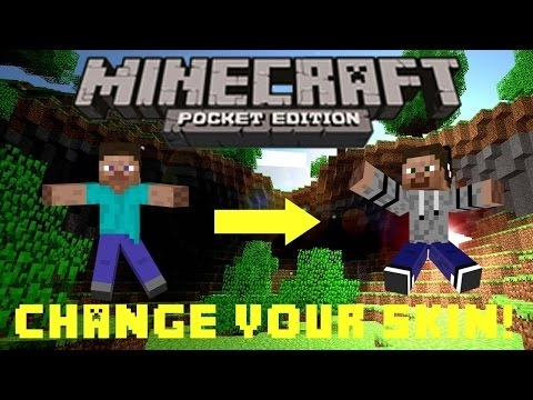 How To Change Your Skin For Free In Minecraft PE iPad Edition (Jailbreak Required!)
