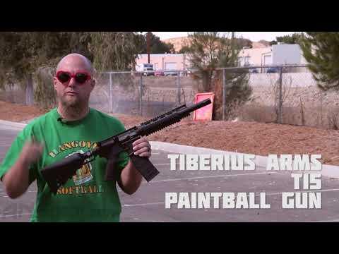 Tiberius Arms T15 Paintball Gun - Shooting