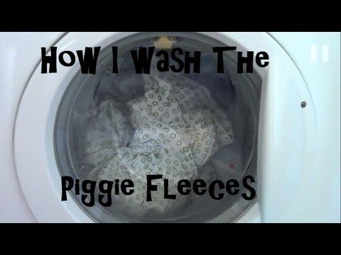 How I Wash The Piggie Fleeces