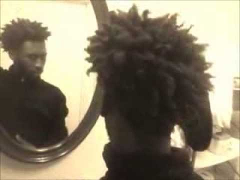 2-Strand Twist-Out On a Black Male