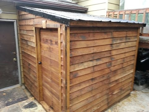 Shed from FREE pallets: Timber Framing part 1
