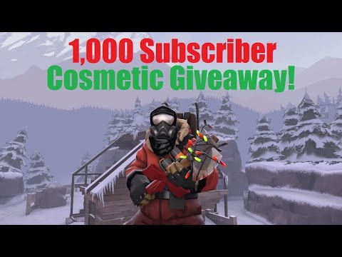 TF2: 1,000 Subscriber Cosmetics Giveaway! (CLOSED)
