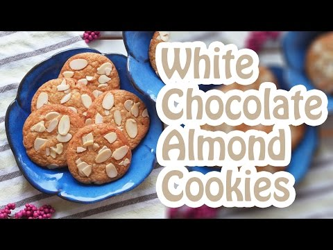 EASY White Chocolate & Almond Cookies - Dough in Under 30 Minutes.