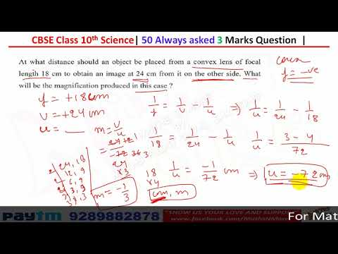 Class 10th Science Board Paper Revision Part 1 | 3 Marks Questions