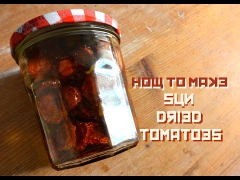 How to make sun dried tomatoes at home with leftover tomatoes. Recipe: sundried tomatoes