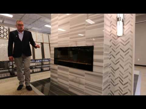 Fireplace & Room Designs - Faux Wood & Marble Tile Ideas