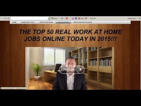 Top 10 work from home jobs real work at home job 2018 Best how to make money from home free website