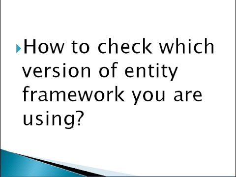 how to check which version of entity framework i am using