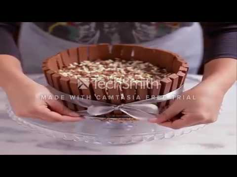 How to make a Kit Kat Pie.