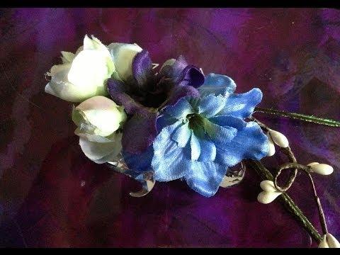 DIY Floral (wedding / bridesmaids) hair clips
